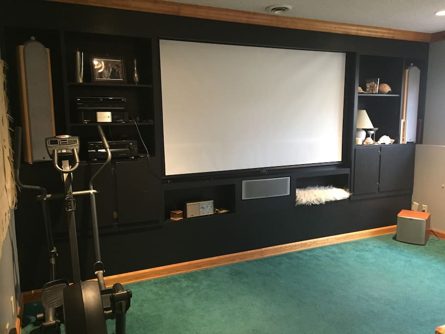 Home Theater, exercise equipment