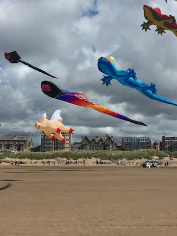 StAnnes kite festival held each year just over the road from us.