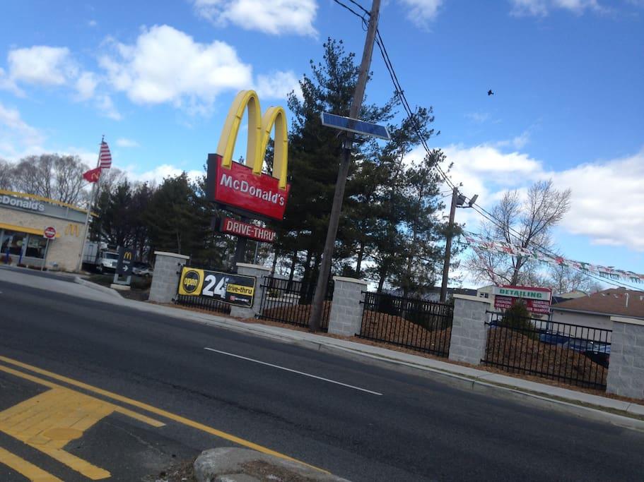 McDonalds -a few streets away
