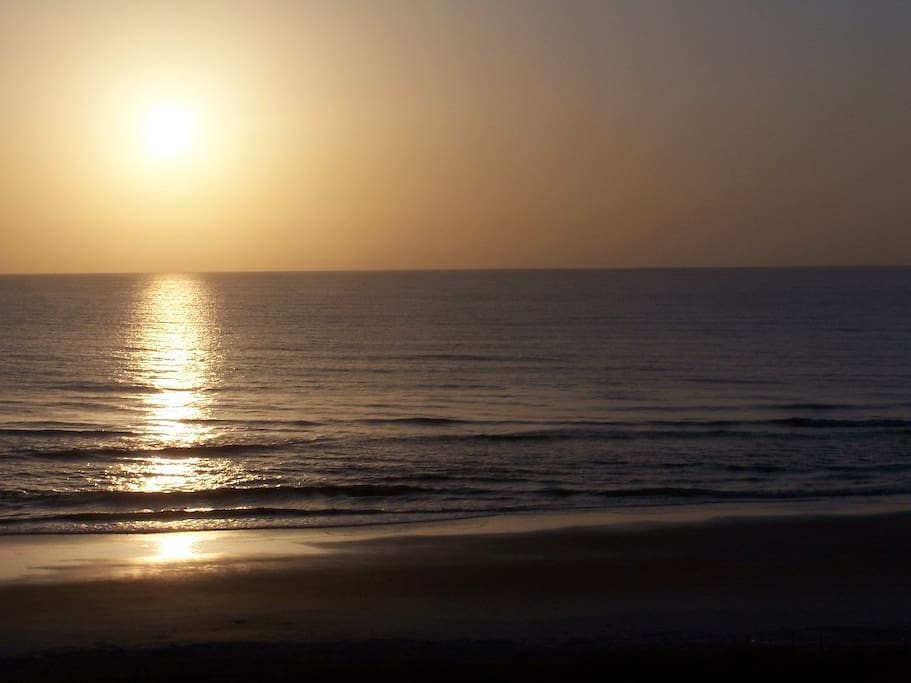 You can walk on the beach and enjoy the gorgeous sunrise!