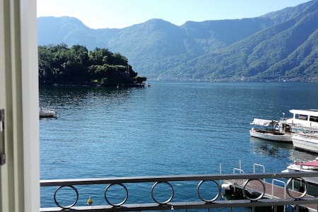 THE HOUSE OF ALMA IN FRONT OF THE ISLAND LAKE COMO - Sala Comacina - Wohnung