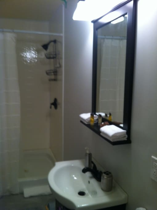 New bathroom with large shower