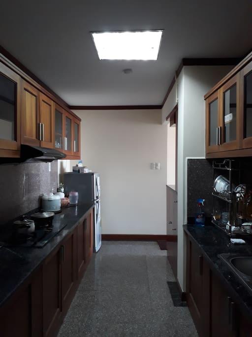 Kitchen is shared