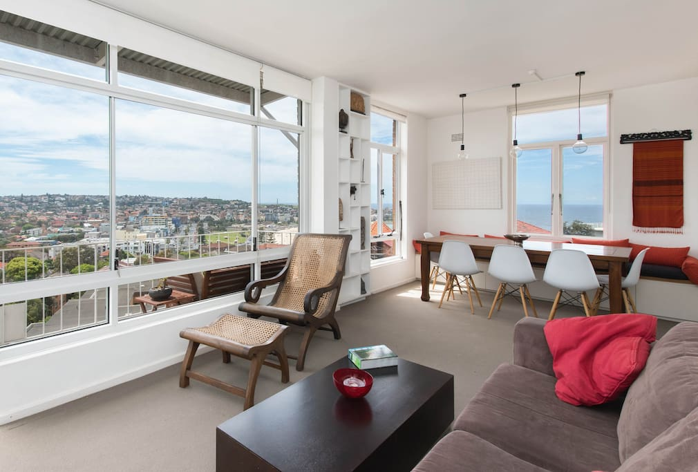 Soak in the view from the open plan unit
