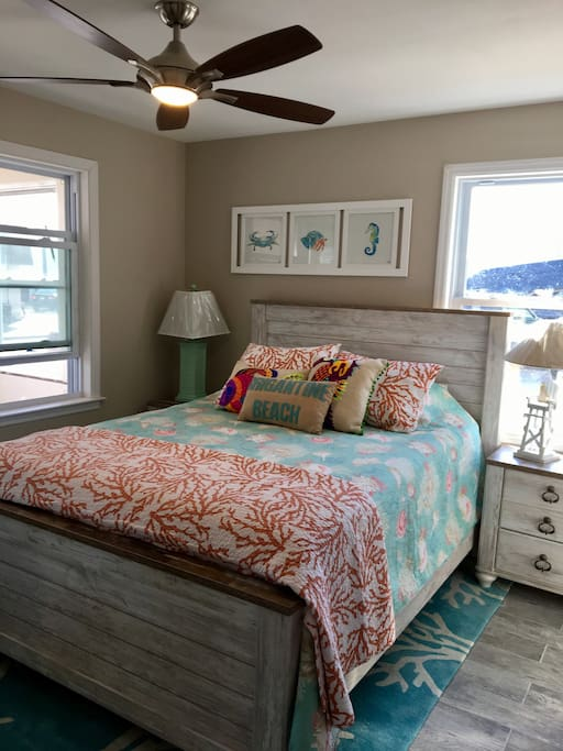 All Three Bedrooms have Queen Beds and Ceiling Fans for your ultimate comfort.