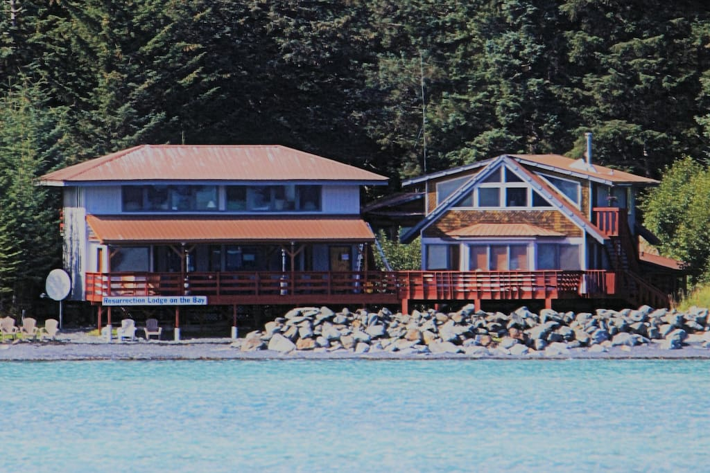 View of Front of Lodge from Water