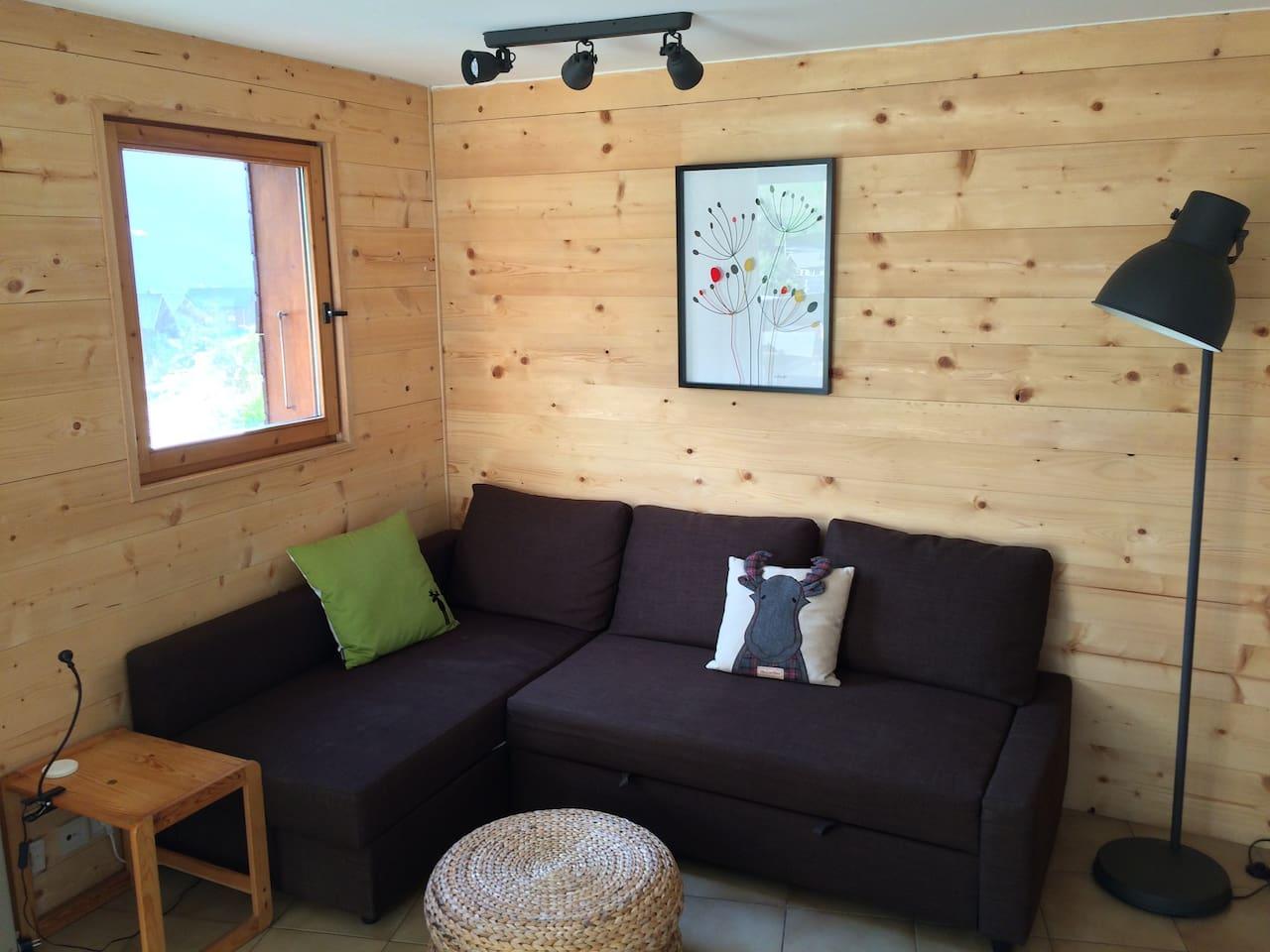 Sunny, modernised apartment L'Eterlou, Morzine