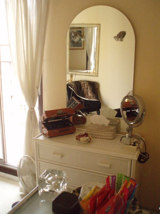 This is the dressing table in your room