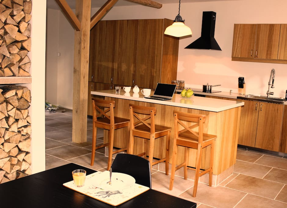 The kitchen which is soley for guests use