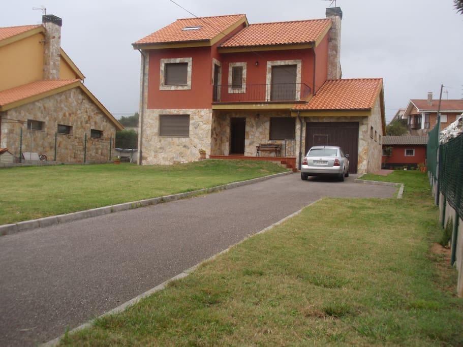 Vista externa de la casa