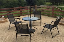 Garden Furniture in Patio area.