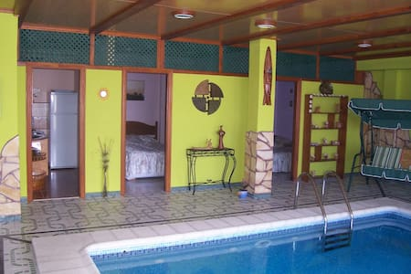 Suitable Dolphin blue heated indoor pool - Arucas