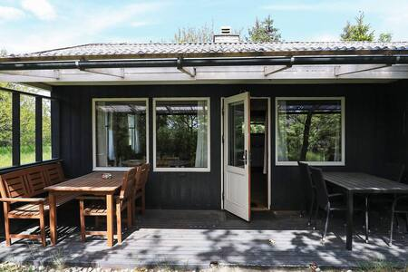 Cozy Holiday Home at Hals Jutland with Roofed Terrace