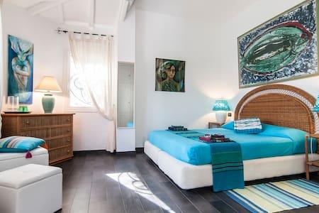 Circetracieloemare stanza azzurra - San Felice Circeo - 別荘