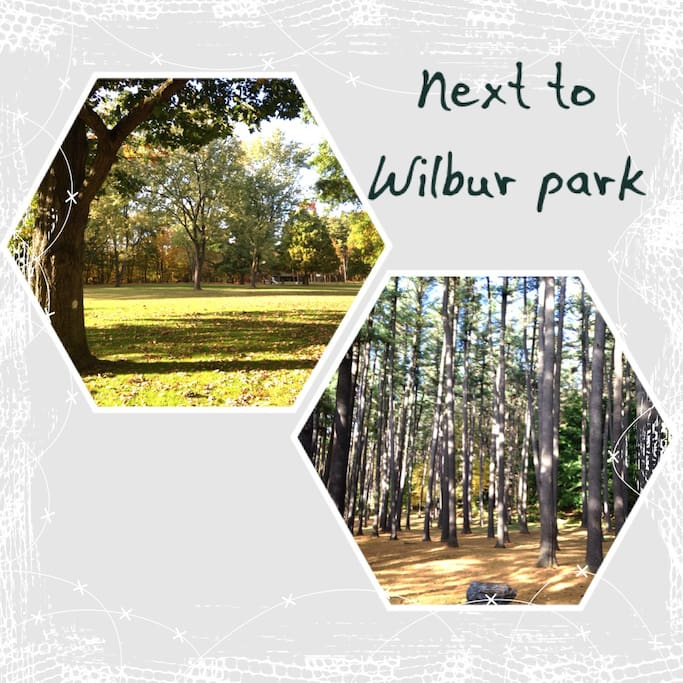 One minute walk from trails and the city pool in Wilbur Park