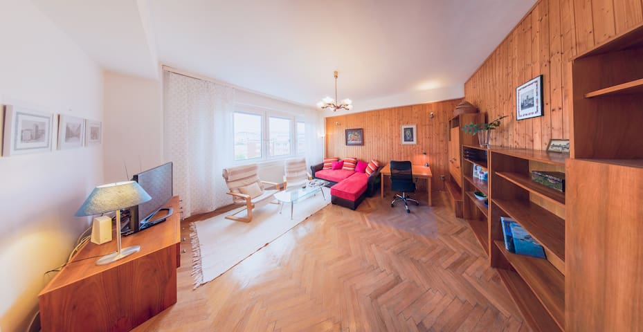 Cosy air-cond. flat with a view in the centre