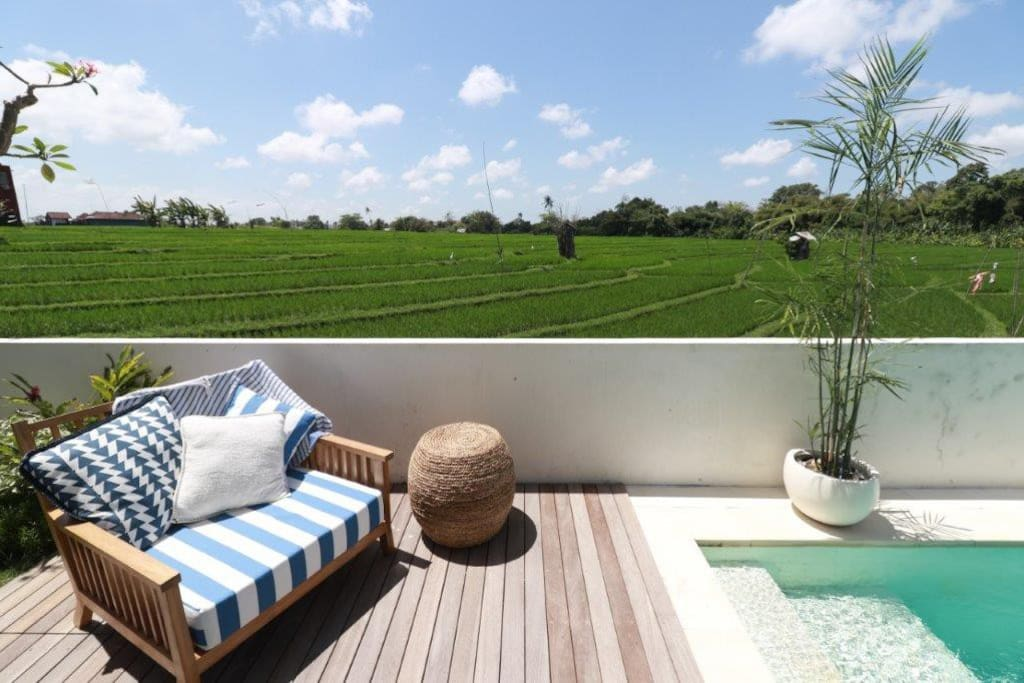 Private Sun Deck in front of Master Suite #1 with direct access to your 8mtr x 4mtr all marble pool.