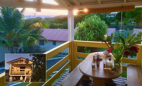 Maisonnette avec terrasse vue MER sud Martinique