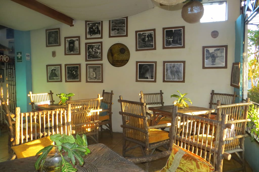 INSIDE OF THE COFFEE PLACE IN CASA DEL LAGO
