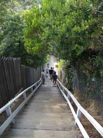 Famous Santa Monica stairs, mecca for exercisers is nearby. Are you up for the challenge?