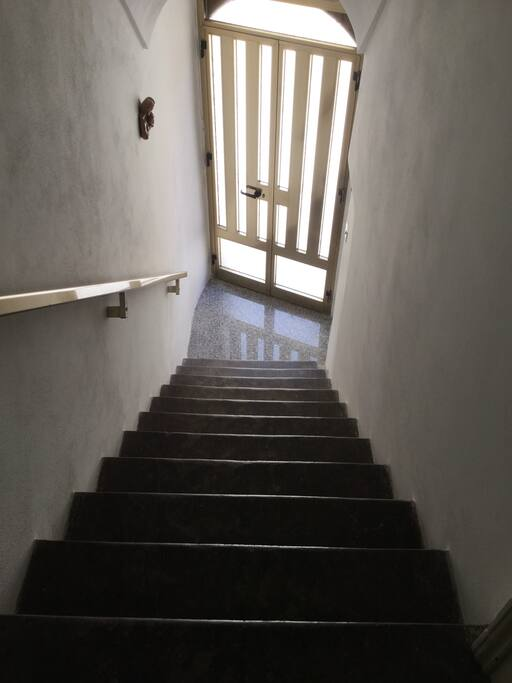 Staircase view towards exit