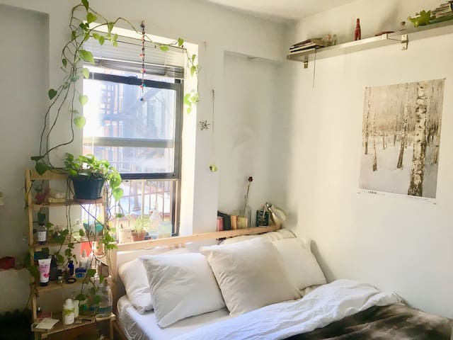 Local living in this cozy East Village apartment