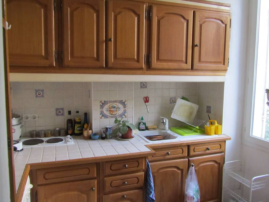 All equiped kitchen, refrigirator, oven, cooking stove....