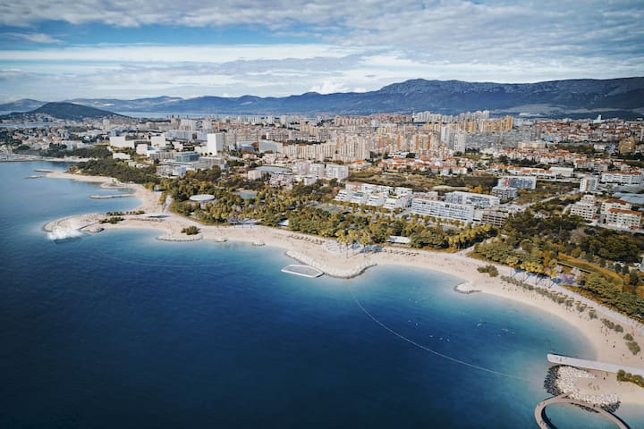 CITY OF SPLIT-BEACH ZNJAN-AMAZING BEACH PERFECT FOR FAMILIES