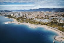 CITY OF SPLIT-BEACH ZNJAN-AMAZING BEACH PERFECT FOR FAMILIES
