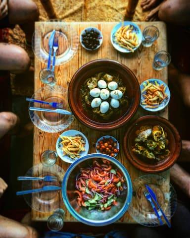 moroccan home made tajine