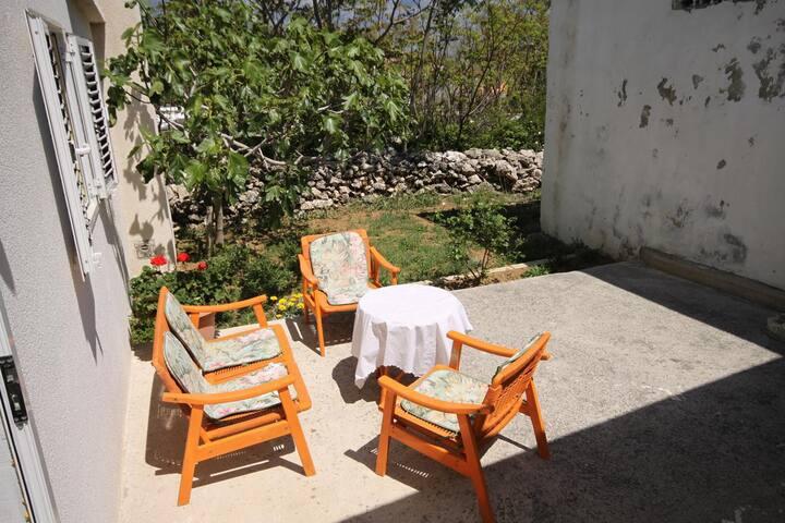 Studio flat with terrace Ražanac, Zadar (AS-6185-a)