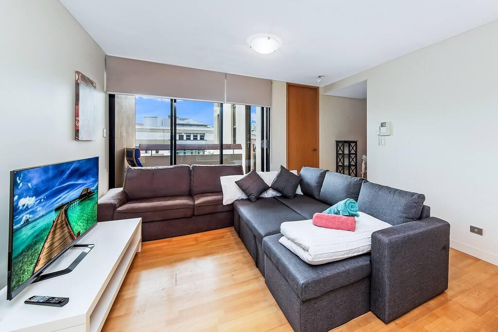 Sofa ded in Living Room