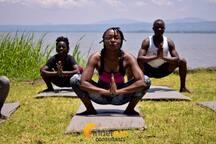 Yoga session along lake victoria