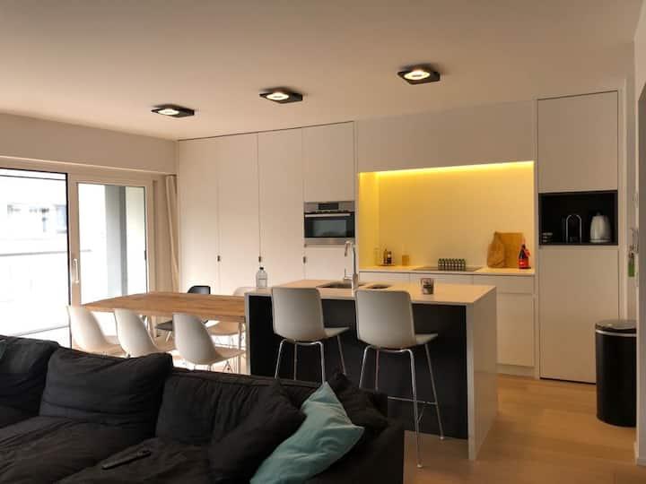 Ruim hedendaags appartement met zeezicht