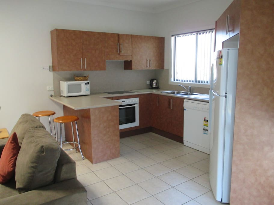 Fully equipped kitchen with dishwasher and Lake views