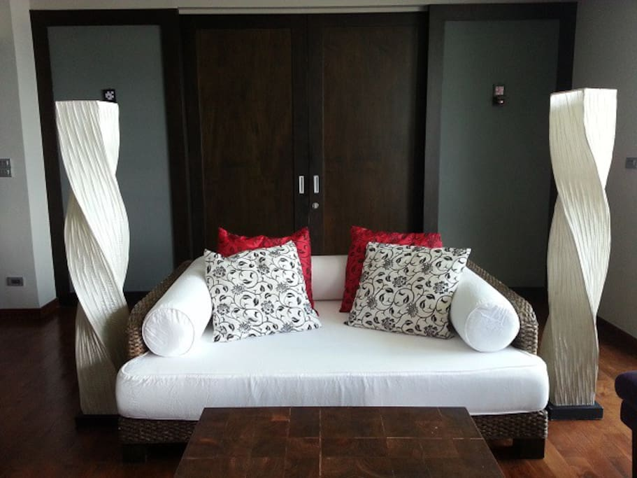 Daybed sofa in living area