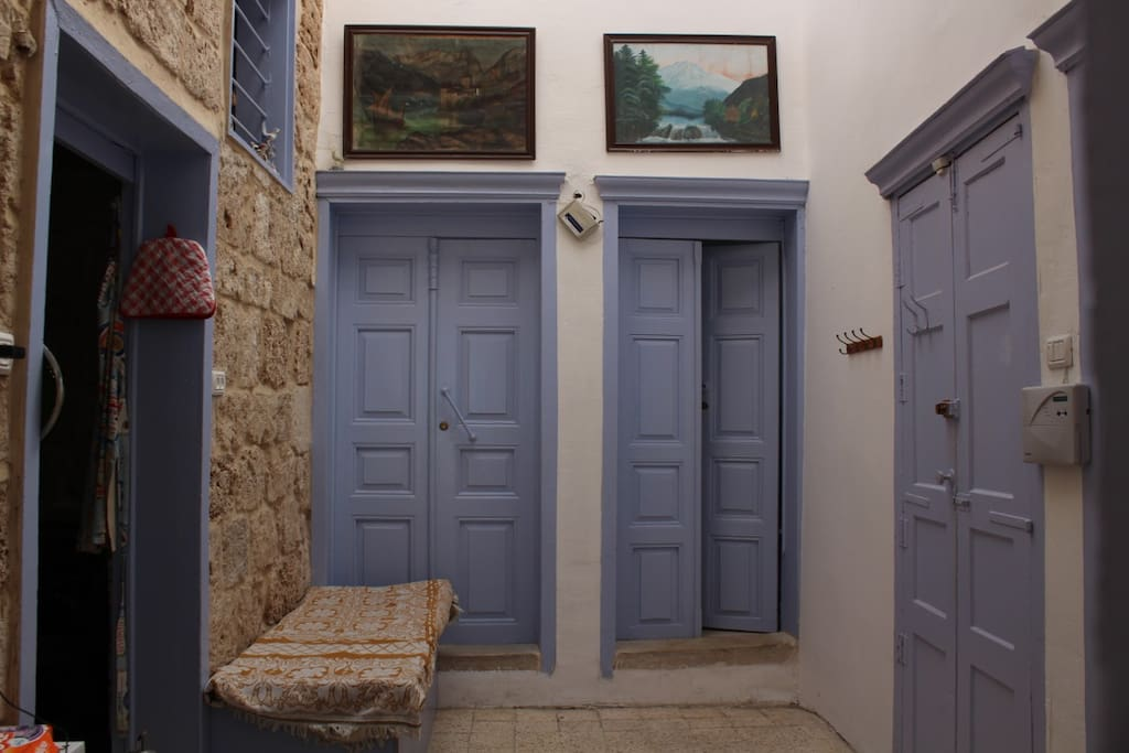 The entrance to the room