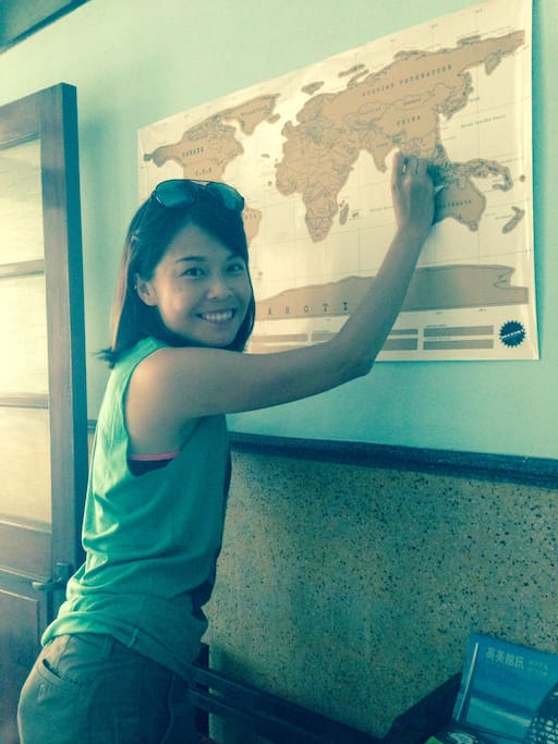 World map & Malaysia Girl