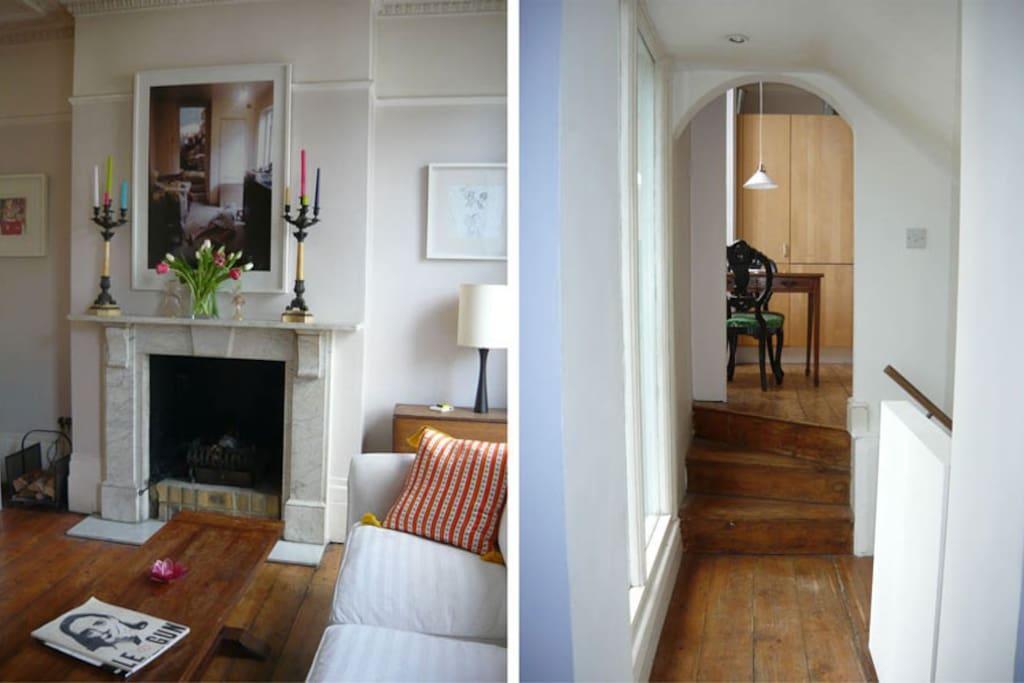 Livingroom + hallway landing.
