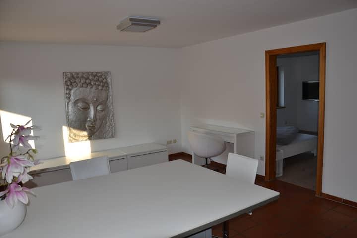 Helles 1-Zimmer Apartment mit Gartenzugang