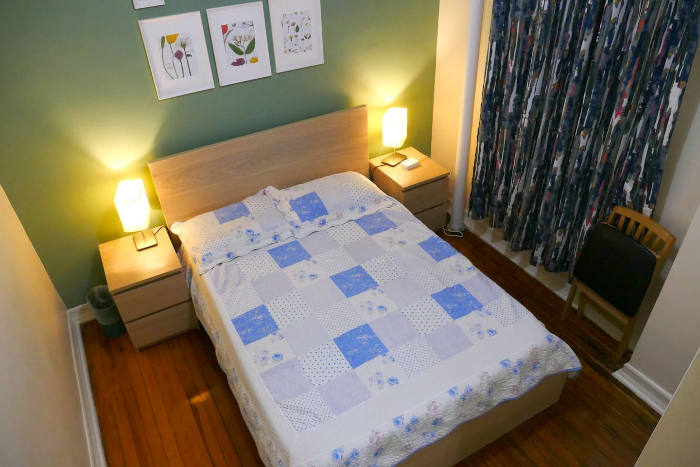 Full-Sized Bedroom with night stands