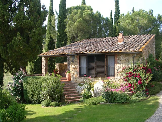 Lovely barn in a Tuscan winery - Castellina In Chianti - บ้าน