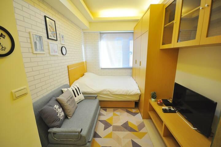1B-台北車站 善導寺 3人房 房子明亮 完全自己使用的空間