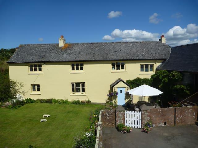 Sunny Devon Heaven for 11 in Handsome Farmhouse