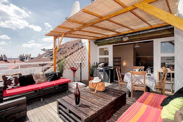 Penthouse apartment with terrace - Prague - Apartment