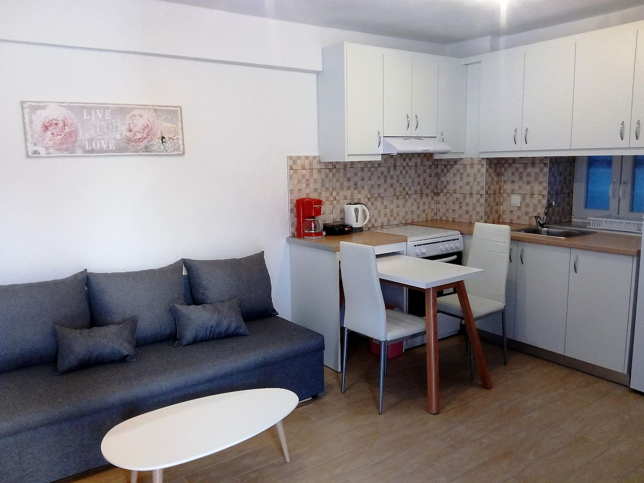 comfortable living room kitchen in ground floor, easy access to court yard