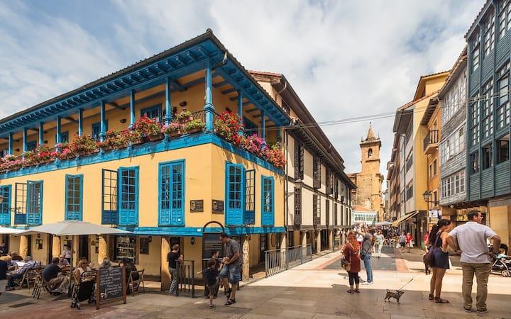 Apatamento, Oviedo, catedral, ayuntamiento