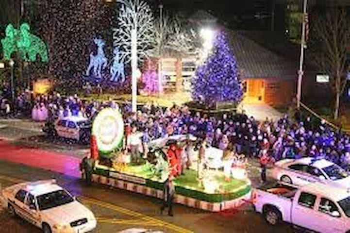 Winterfest parade in Gatlinburg