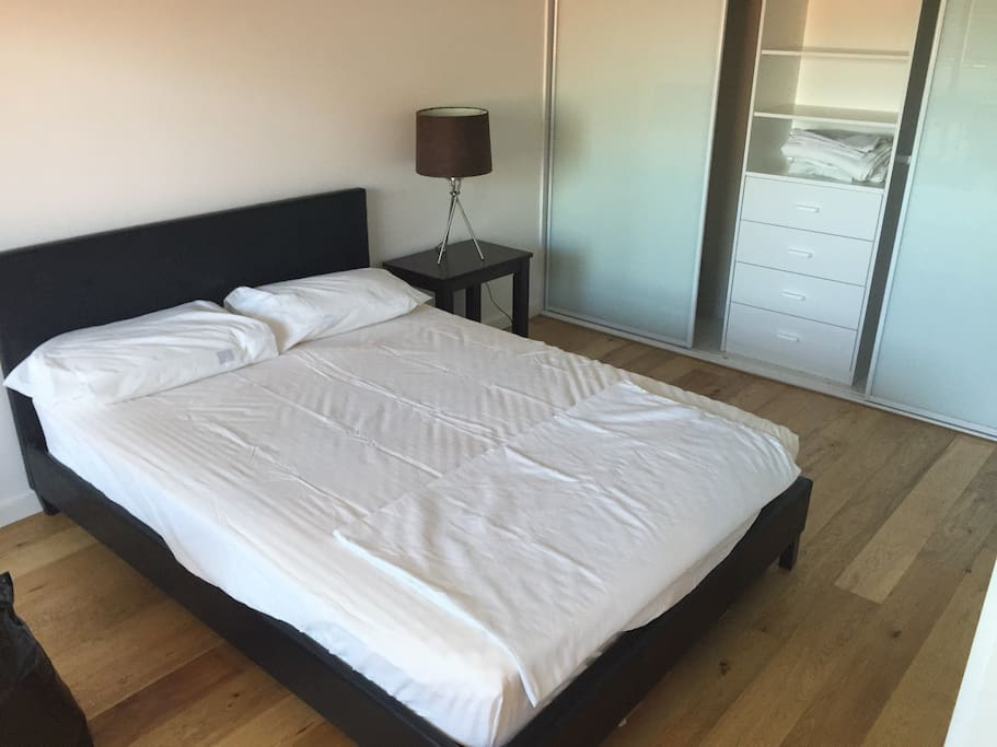 Double bed with built-ins