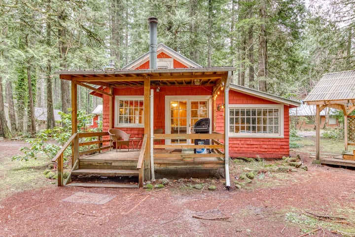 Creekside dog-friendly cabin-close to hiking trails, ski slopes & glacial rivers